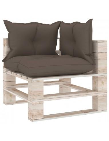Kampinė sodo sofa iš palečių su pagalvėlėmis, pušies mediena   Lauko Sofos   duodu.lt