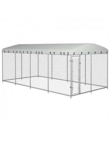 Lauko voljeras šunims su stogu, 8x4x2m   Būdos ir voljerai šunims   duodu.lt