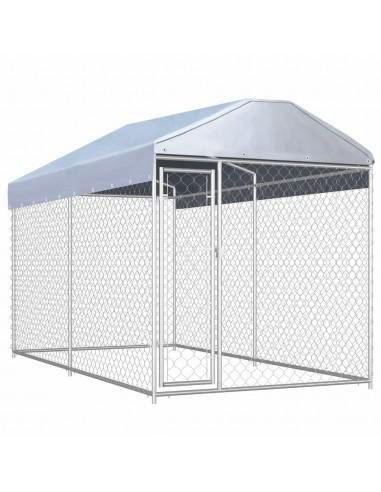 Lauko voljeras šunims su tentu stogui, 382x192x225cm | Būdos ir voljerai šunims | duodu.lt