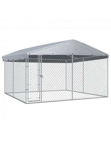 Lauko voljeras šunims su stogu, 382x382x225cm | Būdos ir voljerai šunims | duodu.lt