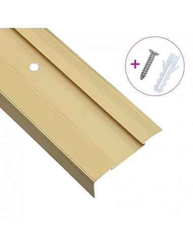 Profiliai laiptams, 15vnt., aukso, 90cm, aliuminis, L formos | Laiptai | duodu.lt