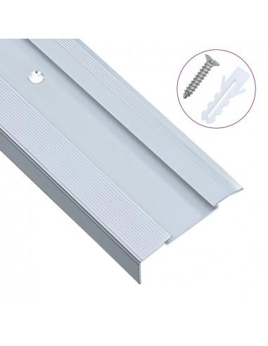 Profiliai laiptams, 15vnt., sidabro, 100cm, aliuminis, L formos | Laiptai | duodu.lt