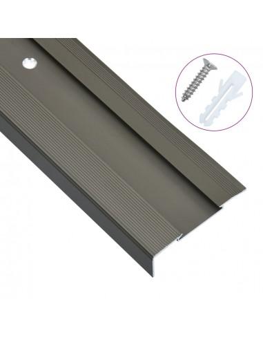 Profiliai laiptams, 15vnt., rudi, 134cm, aliuminis, L formos | Laiptai | duodu.lt