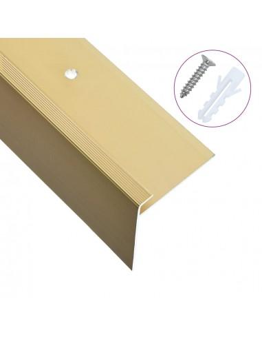 Profiliai laiptams, 15vnt., aukso, 100cm, aliuminis, F formos | Laiptai | duodu.lt
