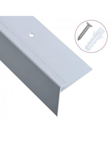 Profiliai laiptams, 15vnt., sidabro, 134cm, aliuminis, F formos   Laiptai   duodu.lt