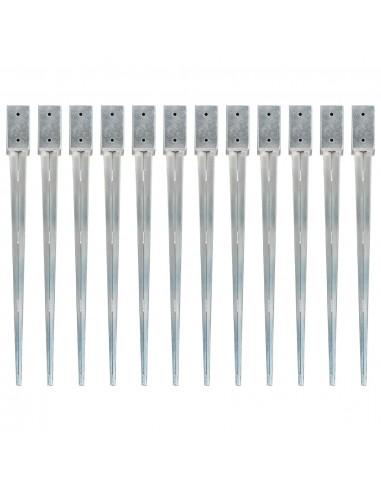 Smeigiami kuoliukai, 12vnt., sidabriniai, 7x7x90cm, plienas | Kuoliukai | duodu.lt