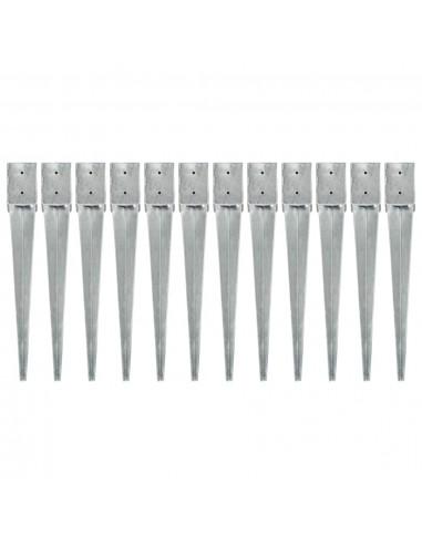 Smeigiami kuoliukai, 12vnt., sidabriniai, 10x10x76cm, plienas | Kuoliukai | duodu.lt
