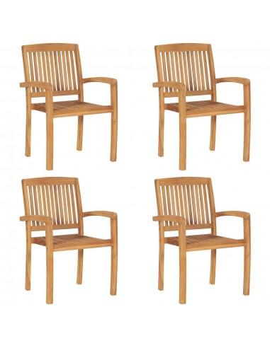 Sudedamos sodo kėdės, 4vnt., tikmedžio masyvas  | Lauko Kėdės | duodu.lt