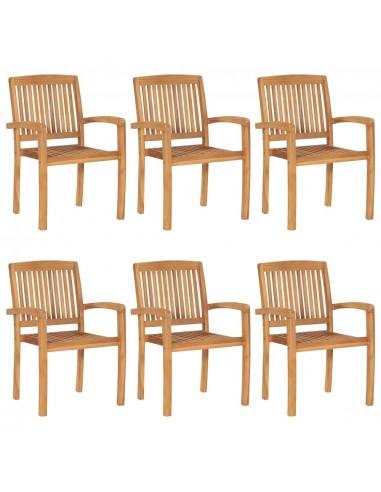 Sudedamos sodo kėdės, 6vnt., tikmedžio masyvas    Lauko Kėdės   duodu.lt