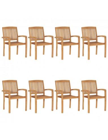 Sudedamos sodo kėdės, 8vnt., tikmedžio masyvas    Lauko Kėdės   duodu.lt