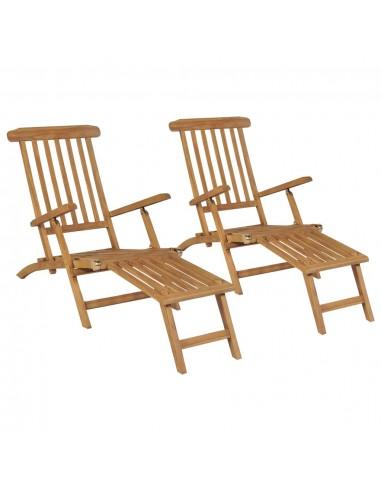 Terasos kėdės su pakojomis, 2vnt., tikmedžio medienos masyvas | Šezlongai | duodu.lt