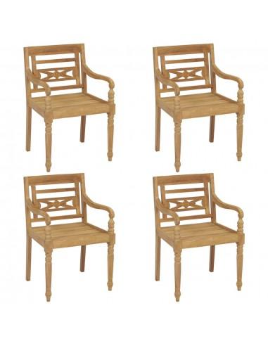 Batavia kėdės, 4vnt., tikmedžio medienos masyvas (2x43051) | Lauko Kėdės | duodu.lt