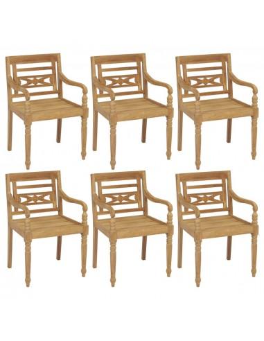 Batavia kėdės, 6vnt., tikmedžio medienos masyvas (3x43051) | Lauko Kėdės | duodu.lt