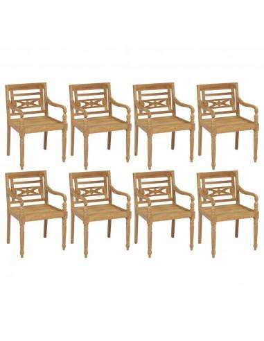 Batavia kėdės, 8vnt., tikmedžio medienos masyvas (4x43051)   Lauko Kėdės   duodu.lt