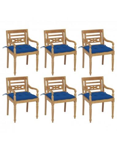 Batavia kėdės su pagalvėlėmis, 6vnt., tikmedžio masyvas   Lauko Kėdės   duodu.lt