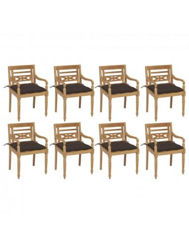 Batavia kėdės su pagalvėlėmis, 8vnt., tikmedžio masyvas   Lauko Kėdės   duodu.lt
