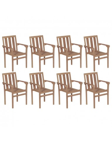 Sudedamos sodo kėdės, 8vnt., tikmedžio medienos masyvas | Lauko Kėdės | duodu.lt