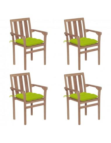 Sukraunamos sodo kėdės su pagalvėlėmis, 4vnt., tikmedis  | Lauko Kėdės | duodu.lt