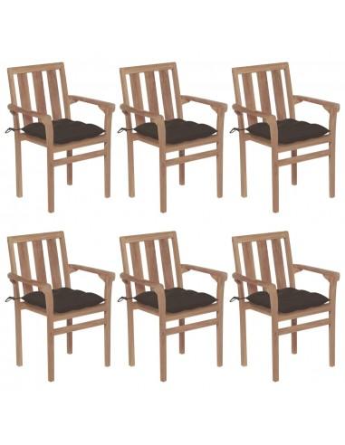 Sudedamos sodo kėdės su pagalvėlėmis, 6vnt., tikmedžio masyvas   Lauko Kėdės   duodu.lt