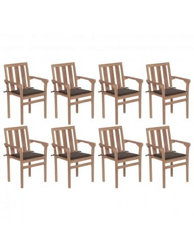 Sukraunamos sodo kėdės su pagalvėlėmis, 8vnt., tikmedis | Lauko Kėdės | duodu.lt