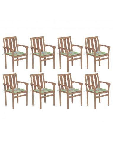 Sukraunamos sodo kėdės su pagalvėlėmis, 8vnt., tikmedis   Lauko Kėdės   duodu.lt