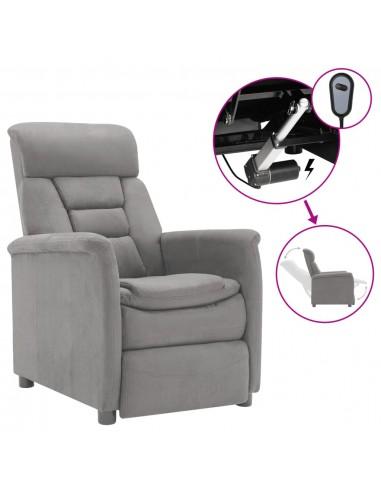 viaXL Elektrinis krėslas, šviesiai pilka, dirbtinė versta oda   Foteliai, reglaineriai ir išlankstomi krėslai   duodu.lt