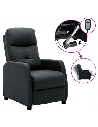 Elektrinis atlošiamas krėslas, tamsiai pilkas, audinys    Foteliai, reglaineriai ir išlankstomi krėslai   duodu.lt