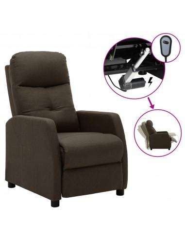 Elektrinis atlošiamas krėslas, rudos spalvos, audinys    Foteliai, reglaineriai ir išlankstomi krėslai   duodu.lt