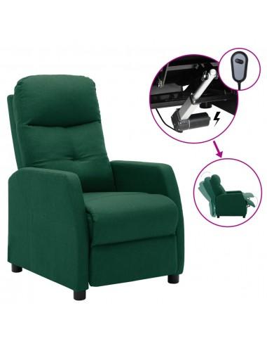 Elektrinis atlošiamas krėslas, tamsiai žalias, audinys    Foteliai, reglaineriai ir išlankstomi krėslai   duodu.lt