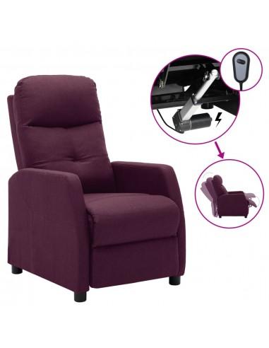 Elektrinis atlošiamas krėslas, violetinė, audinys  | Foteliai, reglaineriai ir išlankstomi krėslai | duodu.lt