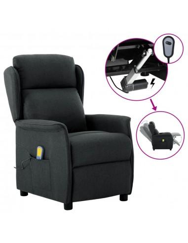 Elektrinis atlošiamas masažinis krėslas, pilkas, audinys  | Elektrinės Masažo Kėdės | duodu.lt
