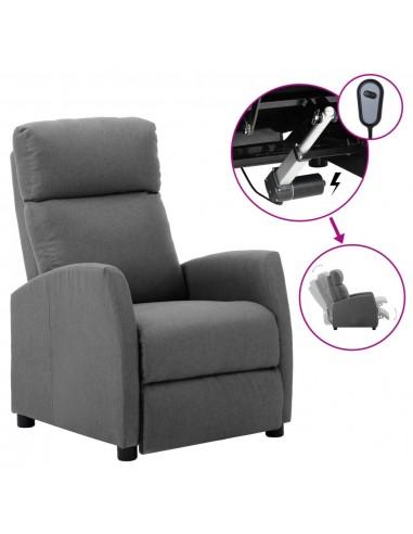 Elektrinis atlošiamas krėslas, šviesiai pilkas, audinys    Foteliai, reglaineriai ir išlankstomi krėslai   duodu.lt