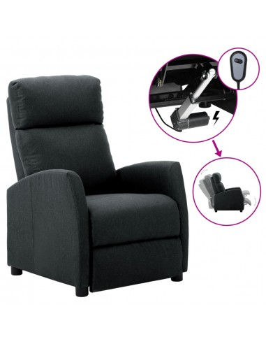 Elektrinis atlošiamas krėslas, tamsiai pilkas, audinys  | Foteliai, reglaineriai ir išlankstomi krėslai | duodu.lt