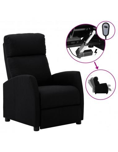 Elektrinis atlošiamas krėslas, juodas, audinys  | Foteliai, reglaineriai ir išlankstomi krėslai | duodu.lt