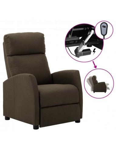 Elektrinis atlošiamas krėslas, rudas, audinys   Foteliai, reglaineriai ir išlankstomi krėslai   duodu.lt