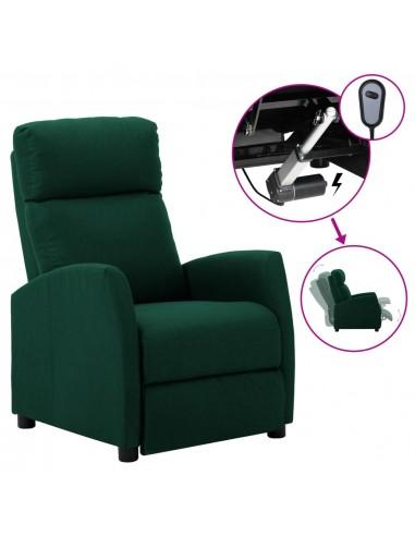 Elektrinis atlošiamas krėslas, tamsiai žalias, audinys  | Foteliai, reglaineriai ir išlankstomi krėslai | duodu.lt