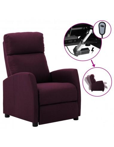 Elektrinis atlošiamas krėslas, violetinė, audinys    Foteliai, reglaineriai ir išlankstomi krėslai   duodu.lt
