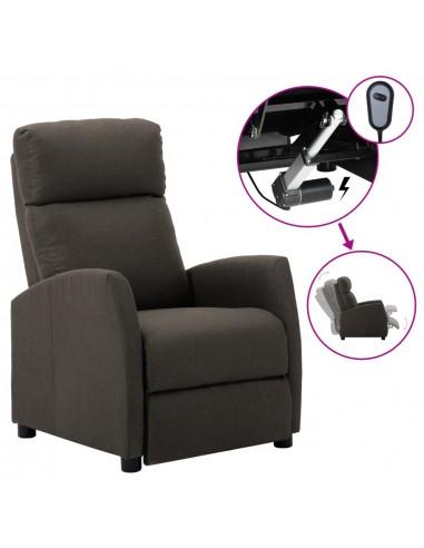 Elektrinis atlošiamas krėslas, taupe, audinys    Foteliai, reglaineriai ir išlankstomi krėslai   duodu.lt