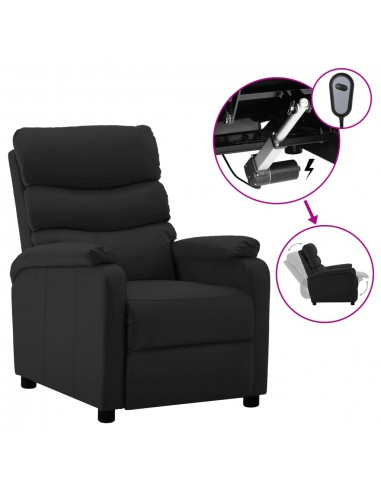 Elektrinė atlošiama kėdė, juodos spalvos, dirbtinė oda    Foteliai, reglaineriai ir išlankstomi krėslai   duodu.lt