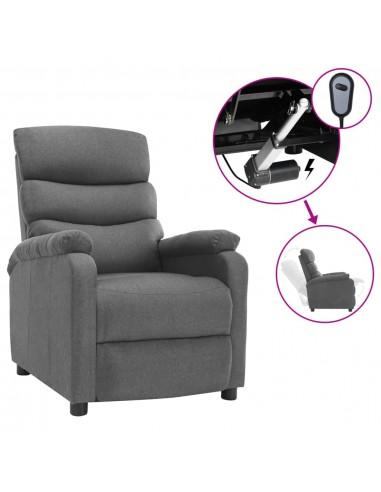Elektrinis atlošiamas krėslas, šviesiai pilkos spalvos, audinys | Foteliai, reglaineriai ir išlankstomi krėslai | duodu.lt