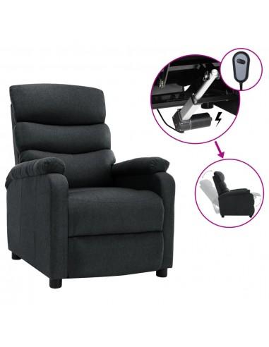 Elektrinis atlošiamas krėslas, tamsiai pilkos spalvos, audinys | Foteliai, reglaineriai ir išlankstomi krėslai | duodu.lt