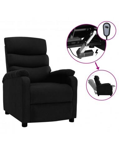 Elektrinis atlošiamas krėslas, juodos spalvos, audinys | Foteliai, reglaineriai ir išlankstomi krėslai | duodu.lt