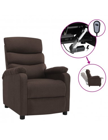 Elektrinis atlošiamas krėslas, rudos spalvos, audinys | Foteliai, reglaineriai ir išlankstomi krėslai | duodu.lt