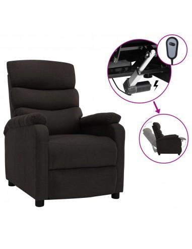 Elektrinis atlošiamas krėslas, tamsiai rudos spalvos, audinys   Foteliai, reglaineriai ir išlankstomi krėslai   duodu.lt