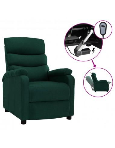 Elektrinis atlošiamas krėslas, tamsiai žalios spalvos, audinys | Foteliai, reglaineriai ir išlankstomi krėslai | duodu.lt