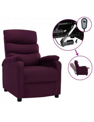 Elektrinis atlošiamas krėslas, violetinės spalvos, audinys | Foteliai, reglaineriai ir išlankstomi krėslai | duodu.lt