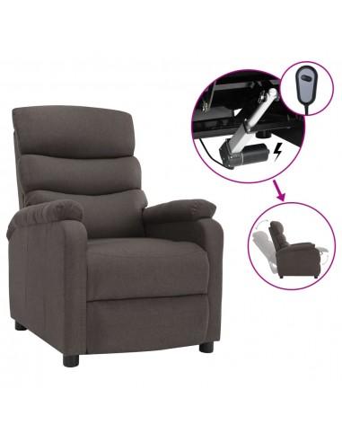 Elektrinis atlošiamas krėslas, taupe spalvos, audinys | Foteliai, reglaineriai ir išlankstomi krėslai | duodu.lt