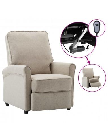Elektrinis atlošiamas televizoriaus krėslas, kreminis, audinys   Foteliai, reglaineriai ir išlankstomi krėslai   duodu.lt