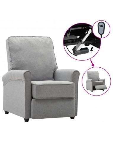 Elektrinis atlošiamas TV krėslas, šviesiai pilkas, audinys | Foteliai, reglaineriai ir išlankstomi krėslai | duodu.lt