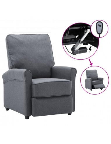 Elektrinis atlošiamas TV krėslas, tamsiai pilkas, audinys   Foteliai, reglaineriai ir išlankstomi krėslai   duodu.lt